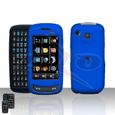 Blue Hard Case Snap on Cover plus free Car Charger for Samsung Impression A877