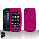 Pink Hard Case Snap on Cover plus free Car Charger for Samsung Impression A877