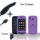 Purple Cover Case Hard Case Snap on Protector + free car charger for Samsung Impression A877