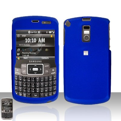 Blue  Cover Case  Hard Case Snap on Protector with Car Charger for Samsung Jack i637