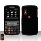 Black Cover Case Rubberized  Snap on Protector + free car charger for Samsung Magnet A257