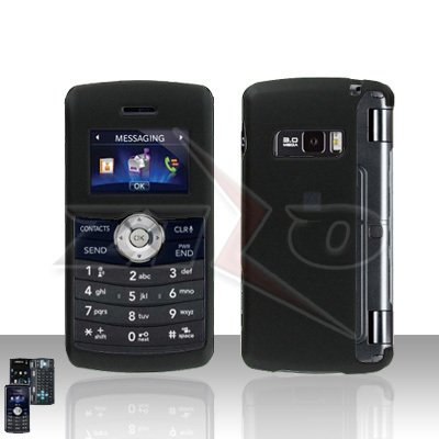 Black Cover Case Rubberized  Snap on Protector for LG env3 VX9200