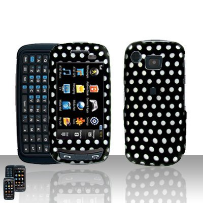 Polka Dots Cover Case Snap on Protector + Car Charger for Samsung Impression A877