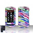 Rainbow Zebra  Design  Cover Case Hard Case Snap on Cover for LG Xenon GR500