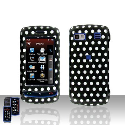 Polka Dot  Cover Case Hard Case Snap on Cover Plus Car Charger for LG Xenon GR500