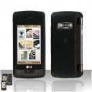 Black Cover Case Rubberized  Snap on Protector + Car charger for LG enV TOUCH VX11000