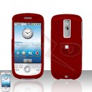 T-MOBILE HTC G2 MyTouch 3G  Red Cover Case Rubberized  Snap on Protector