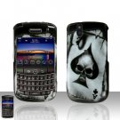 Blackberry Tour 9630 BB Black SpadeRubberized Cover Case Snap on Protector + Car Charger