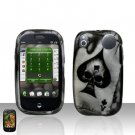 Palm Pre Spade Skull Rubberized Cover Case Snap on Protector