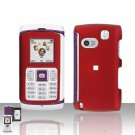 Samsung Comeback T559 Red Cover Case Rubberized  Snap on Protector