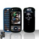 Samsung Exclaim M550 Hooded Skull Cover Case Rubberized  Snap on Protector
