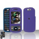 Samsung Exclaim M550 Purple Cover Case Rubberized  Snap on Protector