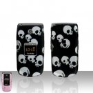 Skulls Design Cover Case Hard Cover  Snap on Protector for Samsung Tint R420