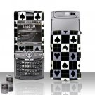 Cards Design Rubberized Hard Case Snap on Protector for Samsung Propel Pro i627