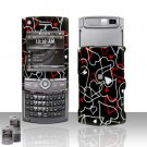 Hearts Design Rubberized Hard Case Snap on Protector for Samsung Propel Pro i627