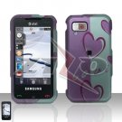 Love Heart Rubberized Cover Case Hard Case Snap on Protector for Samsung Eternity A867
