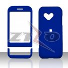 HTC Google G1 Android Blue Rubberized Cover Case Snap on Protector