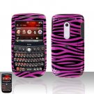 HTC Dash 3G S522 Black Pink Zebra Cover Case Rubberized  Snap on Protector