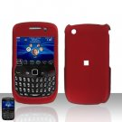 Blackberry Curve 8520 8530 Red Rubberized Cover Case Snap on Protector