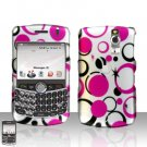 Blackberry Curve 8330 8300 Dots Stars Design Hard Case Snap on Cover
