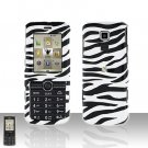 Zebra Cover Case Snap on Protector plus Car Charger for LG Glance VX7100
