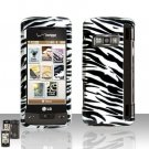 Zebra Rubberized Case Cover Snap on Protector for LG enV TOUCH VX11000
