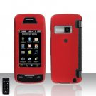 Red Cover Case Rubberized  Snap on Protector for LG Voyager LG VX10000