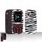 Zebra Cover Case Rubberized  Snap on Protector for Samsung Gravity 2 T469