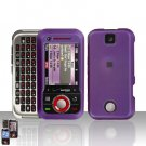 Purple Cover Case Hard Snap on Protector for Motorola Rival A455