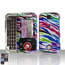 Color Zebra Cover Case Hard Snap on Protector for Motorola Rival A455