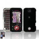 Black Cover Case Hard Snap on Protector for Motorola Rival A455