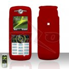 Red Cover case Rubberized Hard Case Snap on Protector for Motorola Renew W233
