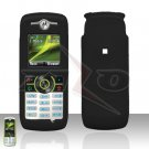 Black Cover case Rubberized Hard Case Snap on Protector for Motorola Renew W233