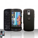 Black Rubberized Cover Case Snap on Protector + Car Charger for Samsung Rogue U960