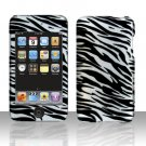 Black Silver Zebra Hard Snap on Case Cover for Apple iPod Touch 2 Touch 3