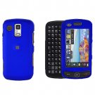 Blue Cover Case Snap on Protector + Car Charger for Samsung Rogue U960