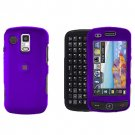 Purple Cover Case Snap on Protector + Car Charger for Samsung Rogue U960