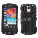 Carbon Fiber Snap on Cover Case + LCD Screen Guard Protector for Samsung Rogue U960