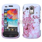 Pink Flowers Snap on Cover Case + LCD Screen Guard Protector for Samsung Rogue U960