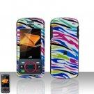 Snap On Case Cover Colorful Zebra for Motorola Debut i856