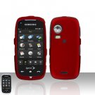 Red Cover Case Snap on Protector + Car Charger for Samsung Instinct HD M850