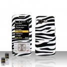 Zebra Cover Case Snap on Protector + Car Charger for Samsung M330