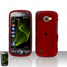 Red Cover Case Snap on Protector + Car Charger for Samsung Omnia 2 i920