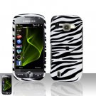 Zebra Cover Case Snap on Protector + Car Charger for Samsung Omnia 2 i920