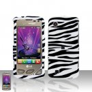 Zebra Case Cover Snap on Protector + Car Charger for LG Chocolate Touch VX8575