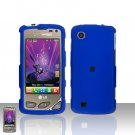Blue Case Cover Snap on Protector + Car Charger for LG Chocolate Touch VX8575