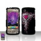 Cool Heart Case Cover Snap on Protector + Car Charger for LG Chocolate Touch VX8575