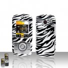 Zebra Case Cover Snap on Protector + Car Charger for LG Lyric MT375
