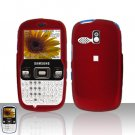 Red Cover Case Snap on Protector for Samsung Freeform R350 R351