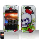 Blackberry Storm II 9550 Skull Heart Cover Case Snap on Protector + LCD Screen Guard